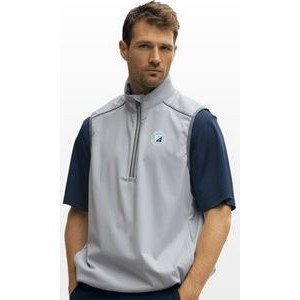 Greg Norman 1/4-Zip Pieced Weatherknit Vest