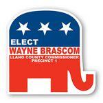Custom Fan - Elephant Republican Shape Paper Hand Fan W/out Stick