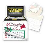 Custom Laptop Computer Shape Pad Sticker W/Tear Away Calendar