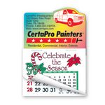 Custom Delivery Van Shape Calendar Pad Magnets W/Tear Away Calendar