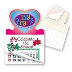 Custom Heart Shape Calendar Pad Sticker W/Tear Away Calendar