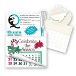 Custom Toothbrush Shape Calendar Pad Sticker W/ Tear Away Calendar