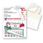 Custom Eye Glasses Shape Calendar Pad Sticker W/ Tear Away Calendar