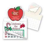 Custom Apple Shape Calendar Pad Sticker W/Tear Away Calendar