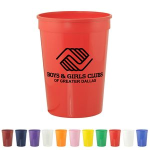 Stadium Cups - 12 Oz Polypropylene plastic Stadium Cups