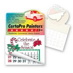 Custom Cargo Van Shape Calendar Pad Sticker W/Tear Away Calendar