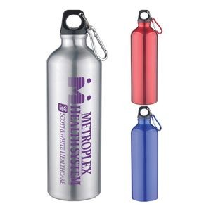 Sports Bottle - 25 Oz Aluminum Sports Bottle With Twist Off Lid & Carabiner