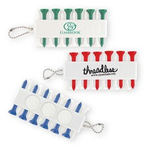Golf Tee & Tee Holder Keychain