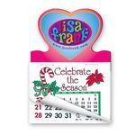 Custom Heart Shape Calendar Pad Magnets W/Tear Away Calendar