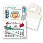 Custom Cell phone Shape Calendar Pad Sticker W/ Tear Away Calendar