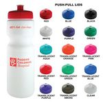 Custom Sports Bottle - 28 Oz White Plastic Water Bottle With your Choice of Lid Color