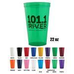 Custom Stadium Cups - 22 Oz Polypropylene plastic Stadium Cups
