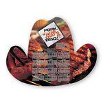 Custom Cowboy Hat Shape Custom Printed Calendar Sheets (8