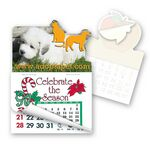 Custom Dog & Cat Shape Calendar Pad Sticker W/ Tear Away Calendar