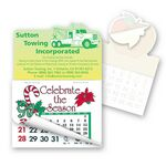 Custom Tow Truck Shape Calendar Pad Sticker W/Tear Away Calendar
