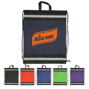 Large Non-Woven Reflective Drawstring Bags