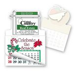 Custom For Sale Shape Calendar Pad Sticker W/Tear Away Calendar