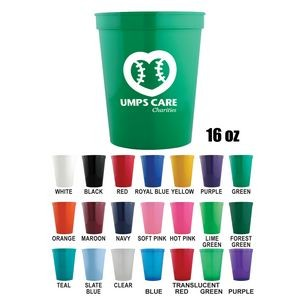 Stadium Cups - 16 Oz Polypropylene plastic Stadium Cups