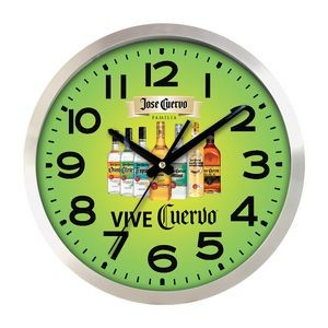 Large Aluminum Wall Clock Full Color