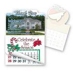 Custom Thank You Calendar Pad Sticker W/Tear Away Calendar