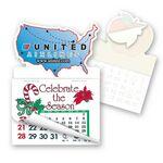 Custom USA Shape Calendar Pad Sticker W/Tear Away Calendar