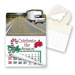 Custom Cargo Truck Shape Calendar Pad Sticker W/ Tear Away Calendar