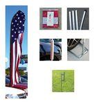 Custom V-T Swooper Flag Kits w/Ground Spike