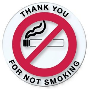 V-T™ Thank You for Not Smoking Round Stickers (100 per Pack)