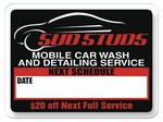 Custom V-T Static Cling Roll Service Reminder Sticker (1 1/2