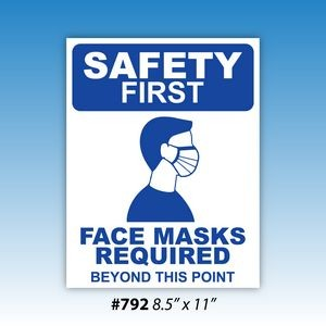 Face Masks Required Decals (Blue)