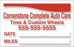 Custom V-T Service Loyalty Large Reminder Sticker - Static Cling (1 3/4