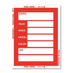 Custom V-T Large Kleer-Bak Stock Stickers