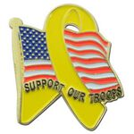 Custom American Troop Support Lapel Pin