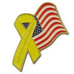 Custom American Troops American Flag Lapel Pin