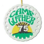 Custom Round ceramic ornament with full color imprint - ships in 3 days