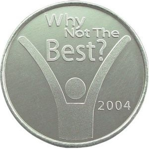 "Custom Aluminum Die Struck Token (0.984"")"