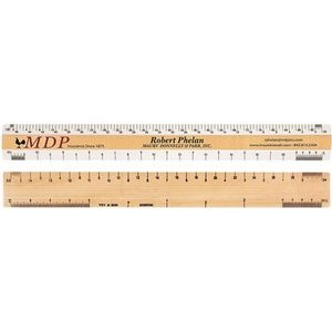 "Double Bevel Architectural Ruler / A Scale Group (12"")"