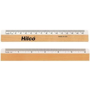 "Optical Ruler - White Metric Scale Front / White Inch Back (6"")"