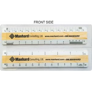 "6"" Architectural & 6"" Civil Engineering DOUBLE BEVEL rulers in a double pocket clear vinyl case"