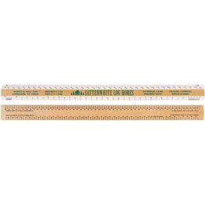 "Double Bevel Architectural Ruler / AJJ Scale Group (18"")"
