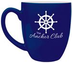 Custom 16 oz. Navy Ceramic Bistro LazerMug