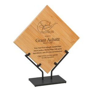 "14.25"" Bamboo Plaque w/Metal Stand"