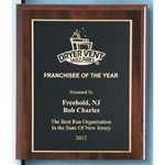 Custom Cherry Finish Plaque w/ Engraved Plate (5 x 7