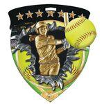 Custom Color Burst Medals/Softball