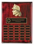 Custom Fire Fighter Perpetual Plaque Award (18