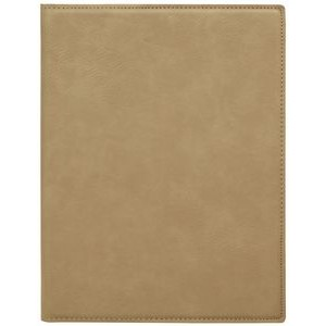 "7 x 9"" Light Brown Leatherette Mini Portfolio with Notepad"