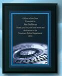 Custom Police Specialty Award on Black Plaque