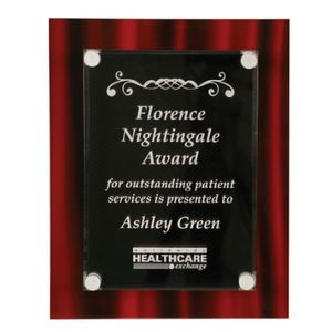 "9"" x 12"" Red Velvet Stand-Off Acrylic Plaque"