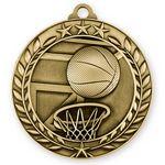 Custom 3D Sports & Academic Medal / Basketball