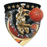 Custom Color Burst Medals/Basketball
